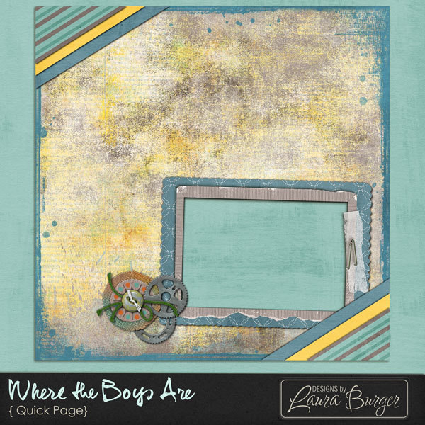 Where the Boys Are Quickpage Digital Art - Digital Scrapbooking Kits