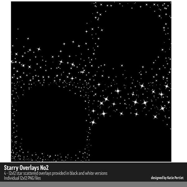 Starry Overlays No. 02 Digital Art - Digital Scrapbooking Kits