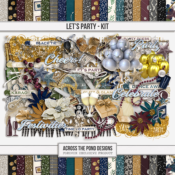 Let's Party Kit Digital Art - Digital Scrapbooking Kits