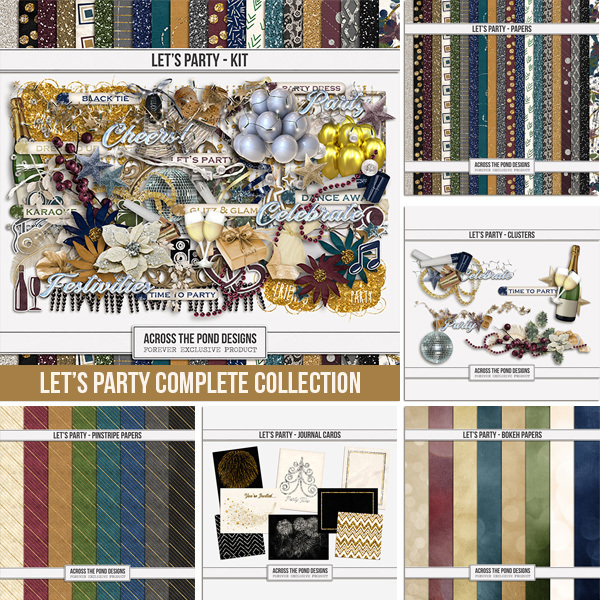 Let's Party Complete Collection Digital Art - Digital Scrapbooking Kits