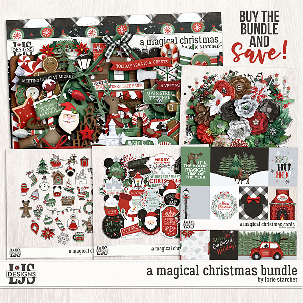 A Magical Christmas Bundle Digital Art - Digital Scrapbooking Kits