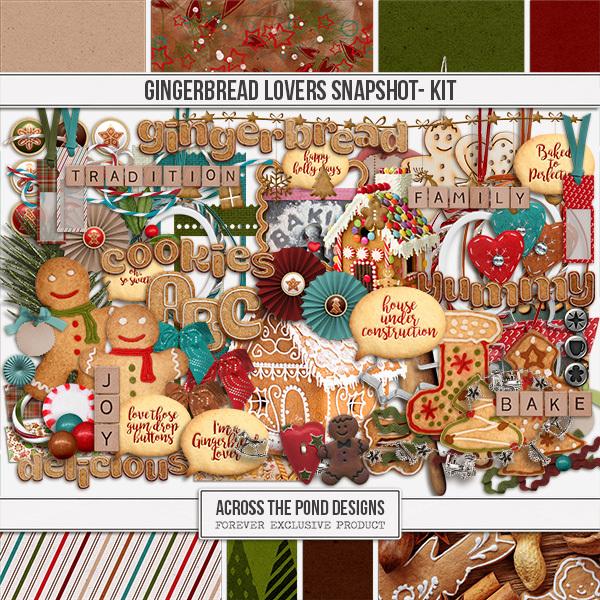 Gingerbread Lovers Snapshot - Page Kit Digital Art - Digital Scrapbooking Kits