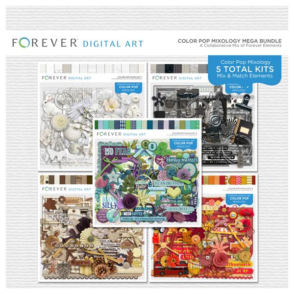 Color Pop Mixology Mega Bundle 2019 Digital Art - Digital Scrapbooking Kits