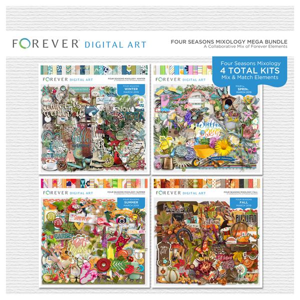 Four Seasons Mixology Mega Bundle 2019 Digital Art - Digital Scrapbooking Kits