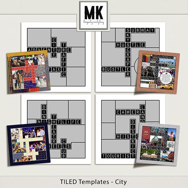 TILED Templates - City Digital Art - Digital Scrapbooking Kits