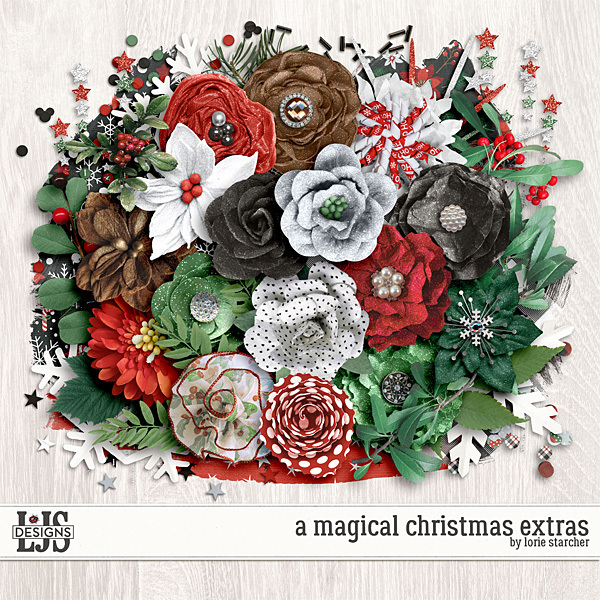 A Magical Christmas Extras Digital Art - Digital Scrapbooking Kits