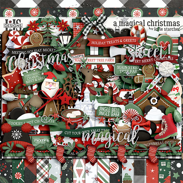A Magical Christmas Digital Art - Digital Scrapbooking Kits