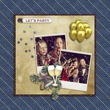 Let's Party Pinstripe Papers