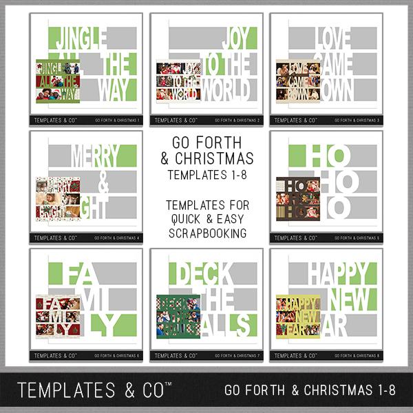 Go Forth & Christmas 1-8 Digital Art - Digital Scrapbooking Kits