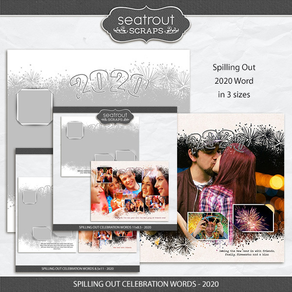 Spilling Out Celebration Words - 2020 Freebie Digital Art - Digital Scrapbooking Kits