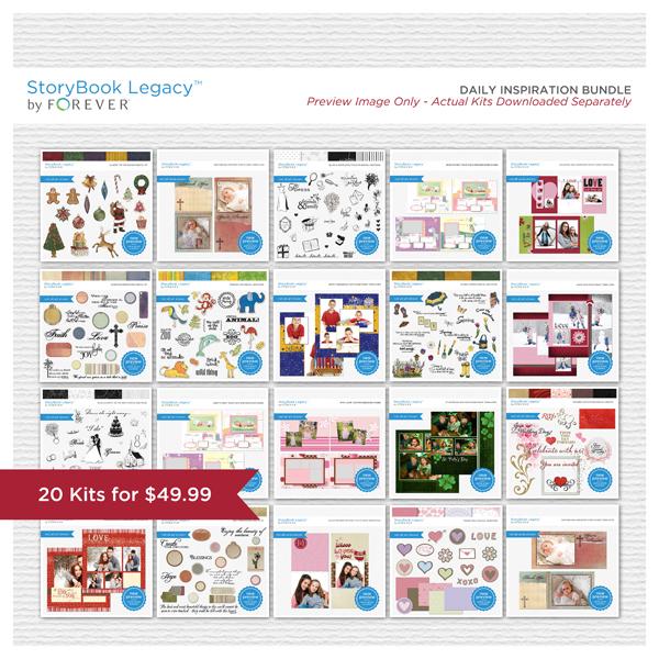 Daily Inspiration StoryBook Legacy™ Bundle Digital Art - Digital Scrapbooking Kits