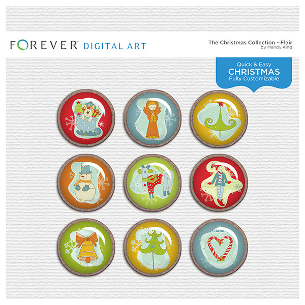 The Christmas Collection - Flair Digital Art - Digital Scrapbooking Kits