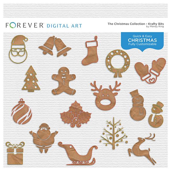 The Christmas Collection - Krafty Bits Digital Art - Digital Scrapbooking Kits