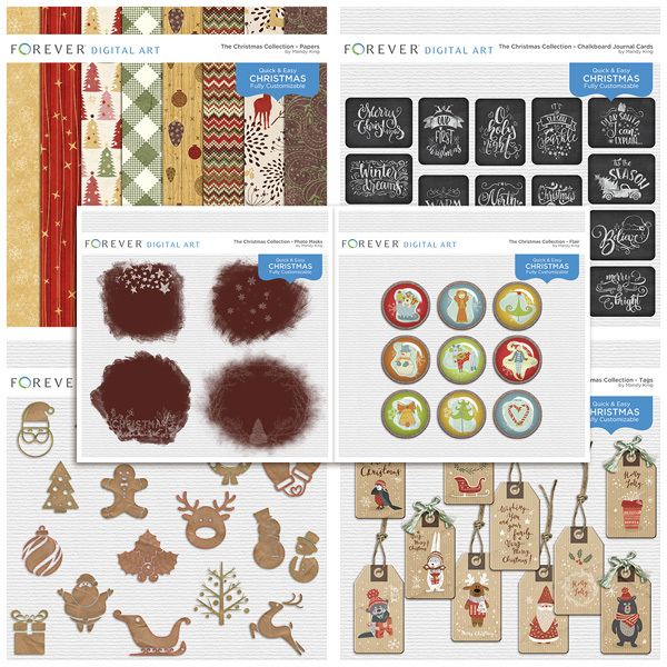 The Christmas Collection - BUNDLE Digital Art - Digital Scrapbooking Kits