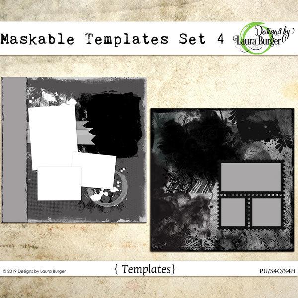 Maskable Templates Set 4 Digital Art - Digital Scrapbooking Kits