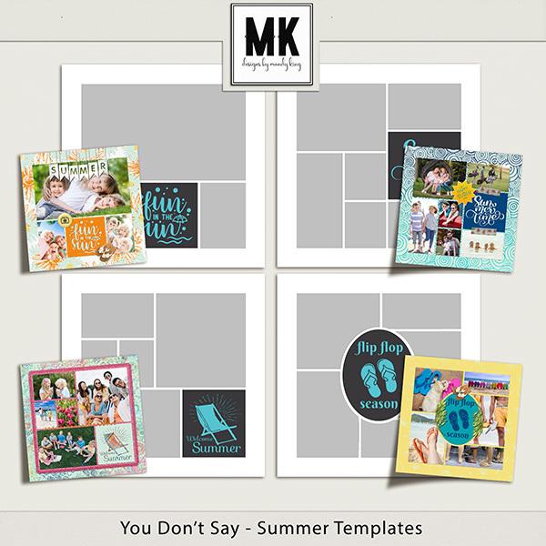 You Don't Say - Summer Templates Digital Art - Digital Scrapbooking Kits