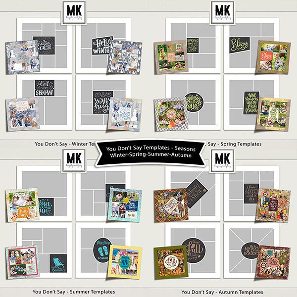 You Don't Say - Seasons Collection Digital Art - Digital Scrapbooking Kits