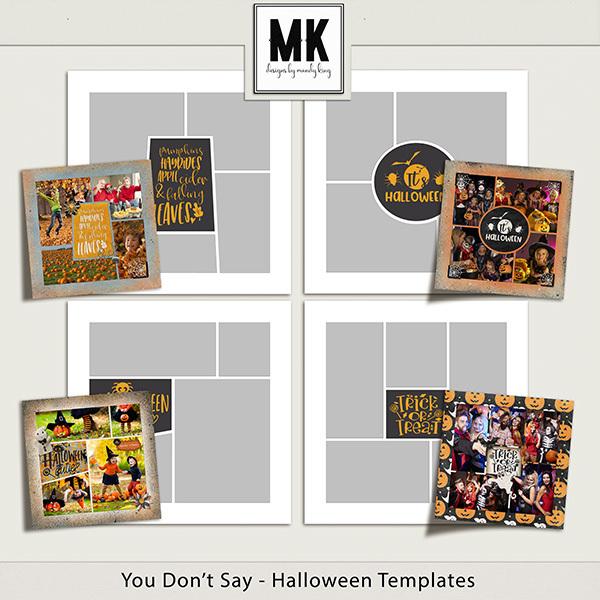 You Don't Say - Halloween Templates Digital Art - Digital Scrapbooking Kits
