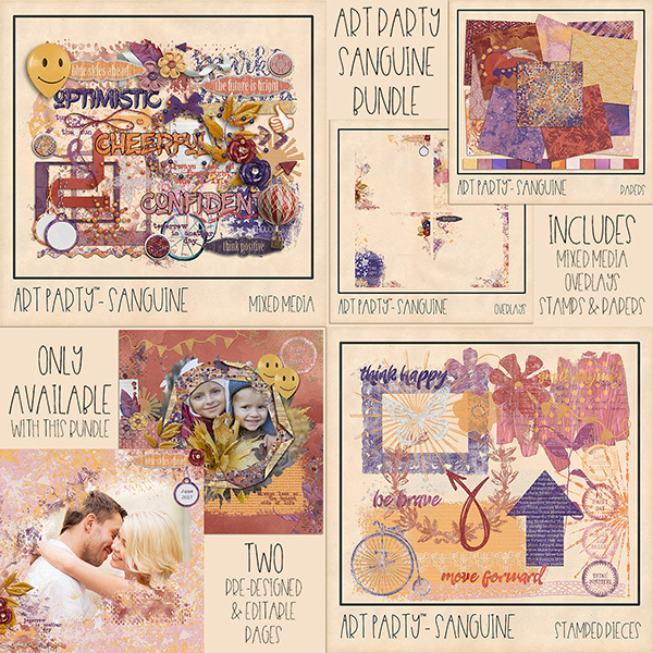 Sanguine Complete Collection Digital Art - Digital Scrapbooking Kits