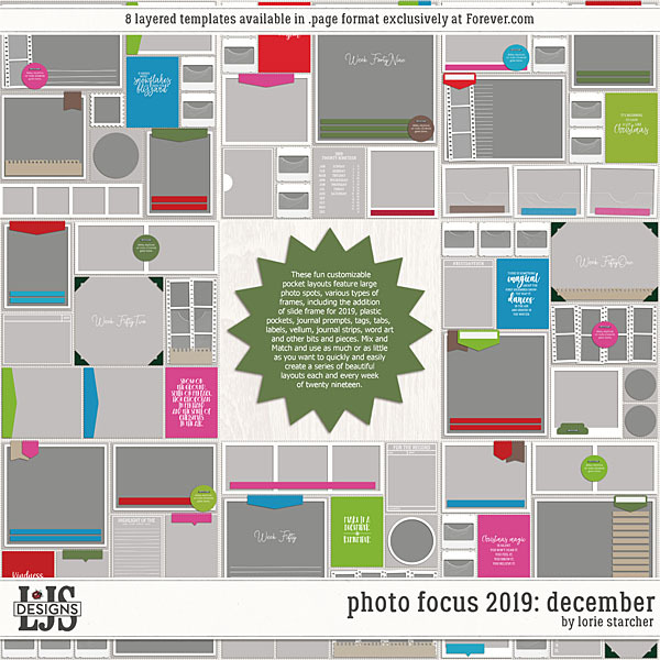 Photo Focus 2019 - December Digital Art - Digital Scrapbooking Kits