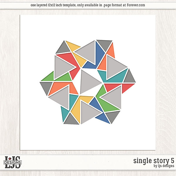 Single Story 5 Digital Art - Digital Scrapbooking Kits