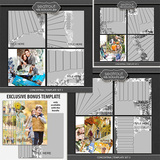 Concertina Templates Bonus Bundle 12x12
