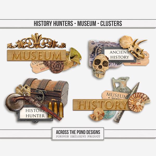 History Hunters - Museum Clusters Digital Art - Digital Scrapbooking Kits