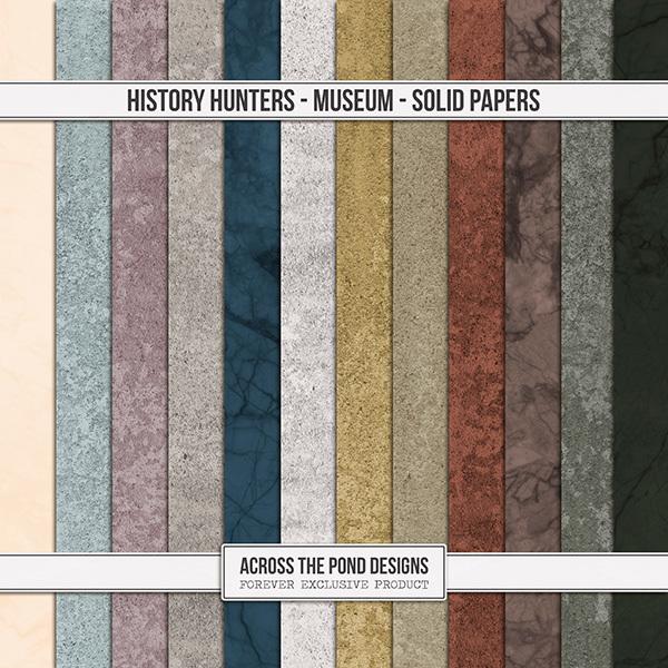 History Hunters - Museum Solid Papers Digital Art - Digital Scrapbooking Kits