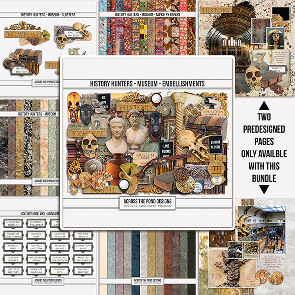 History Hunters - Museum Bundle Digital Art - Digital Scrapbooking Kits
