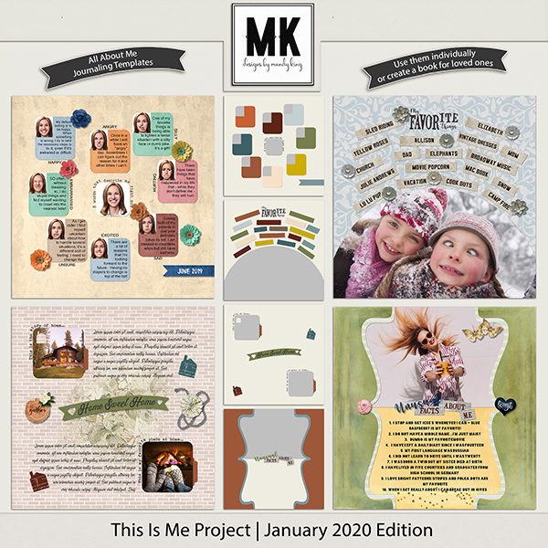 This is Me Project - January 2020 Edition Digital Art - Digital Scrapbooking Kits