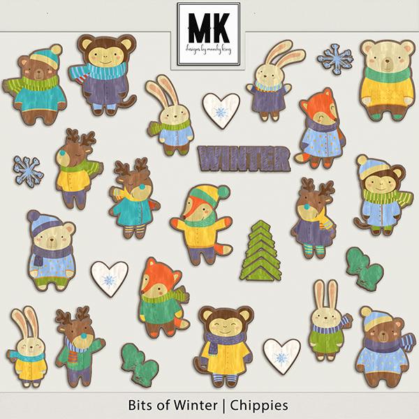 Bits of Winter - Chippies Digital Art - Digital Scrapbooking Kits