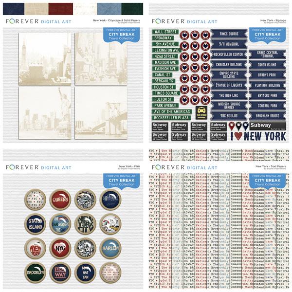 City Break - New York - Bundle Digital Art - Digital Scrapbooking Kits