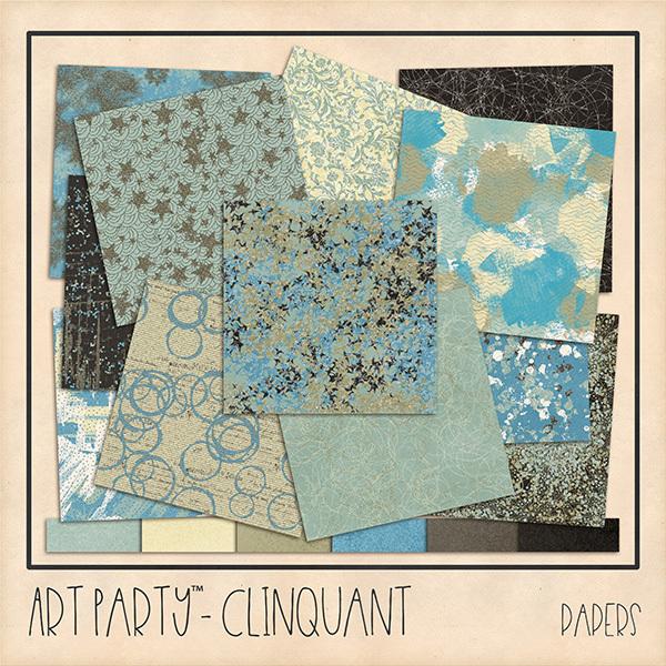 Clinquant Papers Digital Art - Digital Scrapbooking Kits