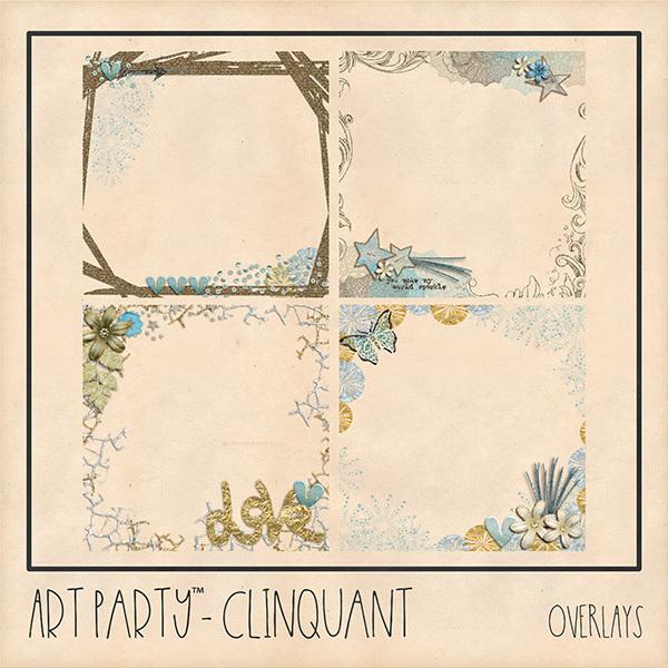 Clinquant Overlays Digital Art - Digital Scrapbooking Kits