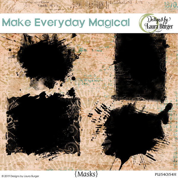 Make Every Day Magical Masks Digital Art - Digital Scrapbooking Kits