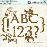 Vintage Blues AlphaSet