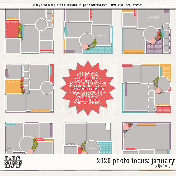 2020 Photo Focus - January Digital Art - Digital Scrapbooking Kits