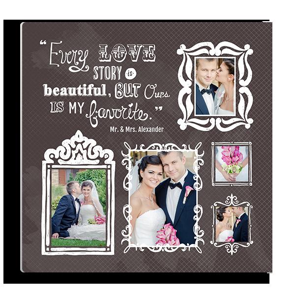 Love Story Sketched Frames Panel Panel