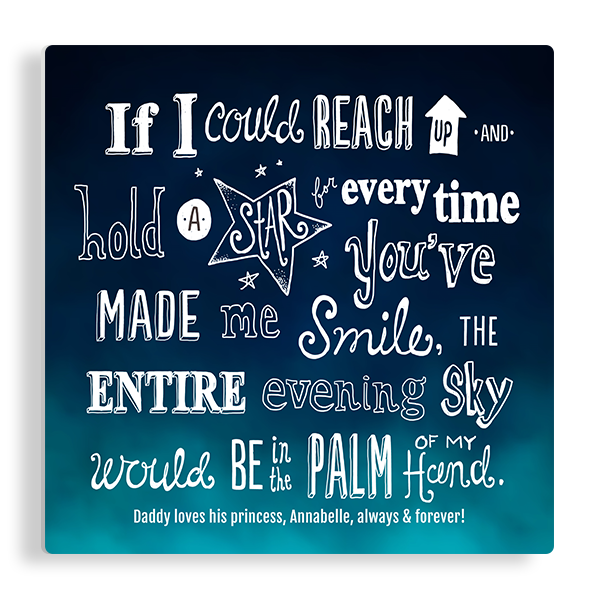 Blue Ombre Quote Panel Panel