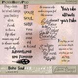 Boho Soul Word Art
