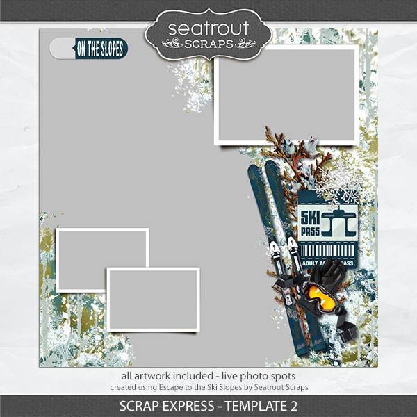 Scrap Express - Template 2 Digital Art - Digital Scrapbooking Kits