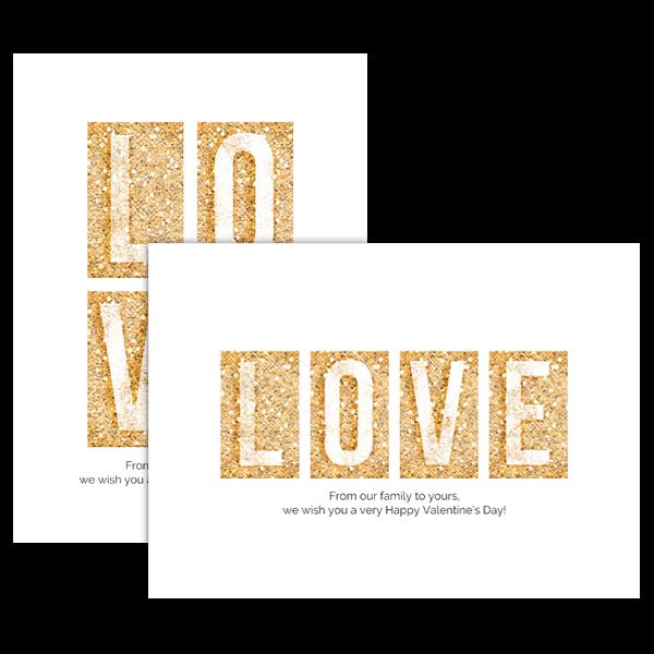 Glitter Block Love Card
