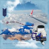 Escape on a Plane Cloud Photo Masks