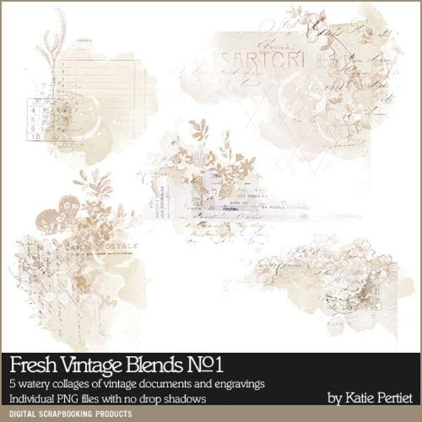 Fresh Vintage Blends No. 01 Digital Art - Digital Scrapbooking Kits