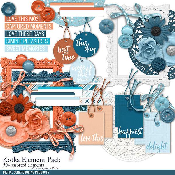 Kotka Element Pack Digital Art - Digital Scrapbooking Kits