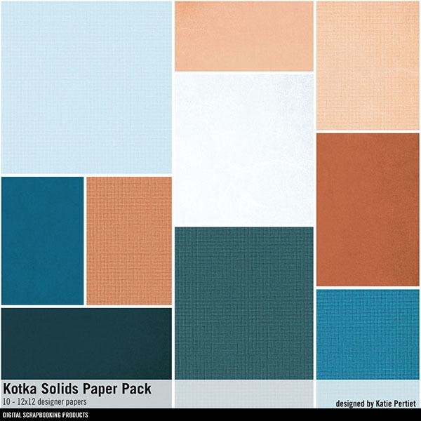Kotka Solids Paper Pack Digital Art - Digital Scrapbooking Kits