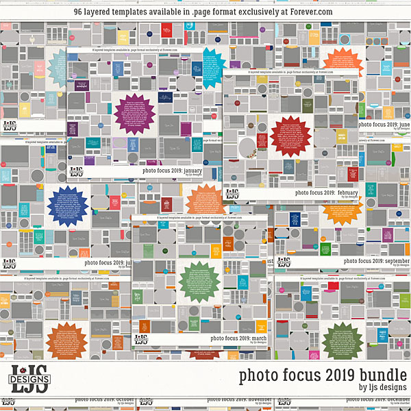 Photo Focus 2019 Bundle Digital Art - Digital Scrapbooking Kits