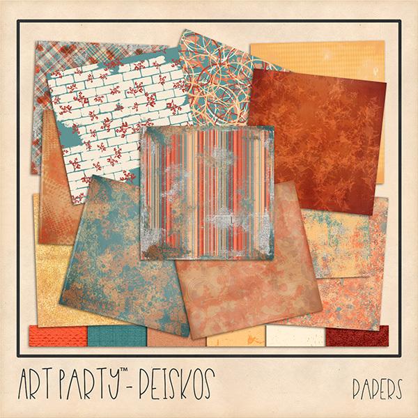 Peiskos Papers Digital Art - Digital Scrapbooking Kits