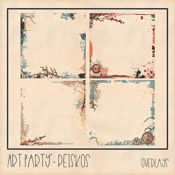 Peiskos Overlays Digital Art - Digital Scrapbooking Kits
