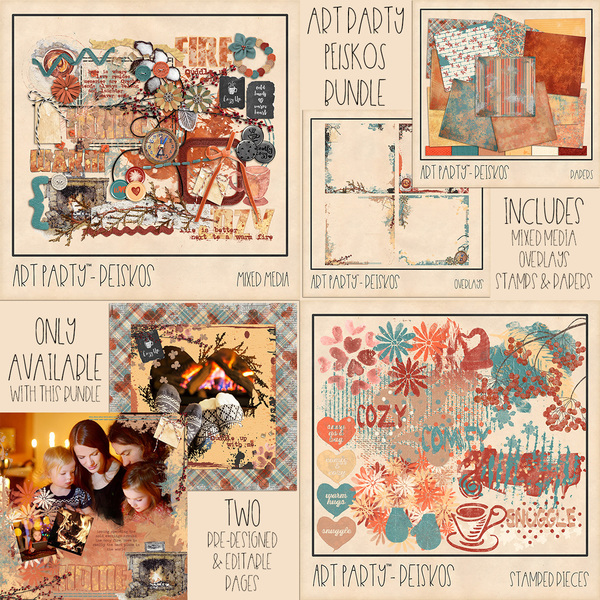 Peiskos Collection Digital Art - Digital Scrapbooking Kits
